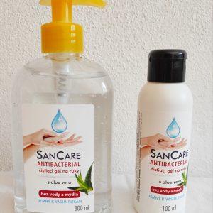SanCare antibakteriálny čistiaci gél na ruky