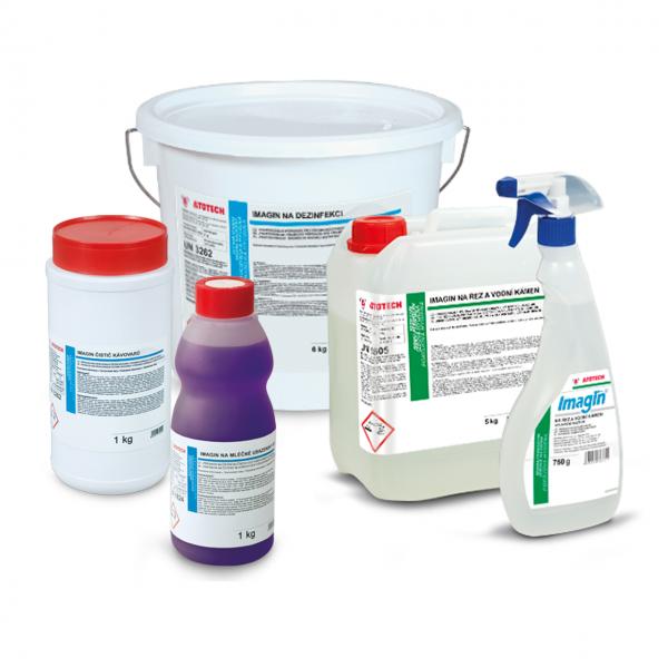Dezinfekcia, čistenie, odvápnenie, dávkovače, stojany
